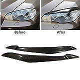 WYYYFA Auto Nebelscheinwerfer Rahmen Für BMW X5 E70 2007-2013, 1 Paar Auto Scheinwerferblende Abdeckung Kohlefaser Augenlid Augenbraue