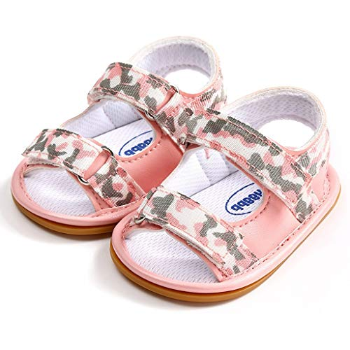 Sandalias De Bebé Zapatos Casuales Estampados De Camuflaje De Verano Zapatillas De Playa Transpirables Antideslizantes Zapatos De Cama Confort De Fondo Suave Zapatos De Primer Paso Regalo CumpleañOs