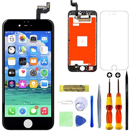 GULEEK Display per iPhone 6S Plus Schermo 5,5 Pollici LCD Touch Screen Frame Vetro Schermo Kit Smontaggio Trasformazione Completo di Ricambio Utensili Inclusi (Nero)