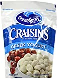 Greek yogurt covered sweetened dried cranberries Fruit snack made with real Greek yogurt and Ocean Spray cranberries Resealable bag for freshness Greek Yogurt Covered CraisinsDried Cranberries are great on-the-go snacks Add Ocean SprayGreek Yogurt Co...