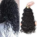 Wavy Senegalese Twist Crochet Hair Braids Wavy Ends 14 Inch 5 packs/lot Senegalese twist Curly wavy Ends Synthetic Hair Extensions for black Women(1B#)