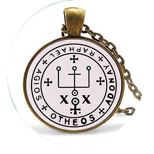 asd Erzengel Raphael Siegel Anhänger It is God Who Heals Jewelry Trendy Herren Schmuck Halskette - Religiöser Schmuck