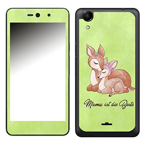 Disagu SF-106581_1003 Design Folie für Wiko Rainbow Up - Motiv Mama ist die Beste - grün