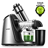 Juicer Machines, Aicook Slow Masticating Juicer Extractor 200W, Large Feed Chute, Unique Ceramic Auger Makes High Nutritive Fruit&Vegetable Juice, Easy to Clean, Ice Cream ACC&Juice Recipes Included