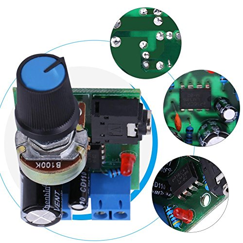 Audioversterker Platine, Amplifier Board LM386 Super MINI versterkerplaat 3V-12V versterker, 0,5W-10W versterker