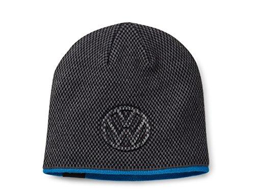 Volkswagen 33D084303A Mütze Beanie Dunkelgrau/Blau, Unisex