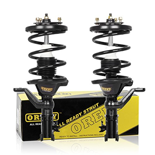 OREDY Front Pair Complete Shocks Struts Coil Spring Assembly Kit Compatible with Honda Civic 2001 2002 2003 2004 2005#171434 171433 11642 11641