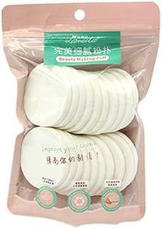 Aland 20Pcs Makeup Facial Sponges Soft Powder Puff Beauty Foundation Cosmetic Pads White