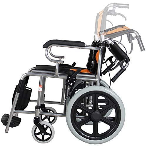 CXDM Leichter Transport Erwachsener Klapprollstuhl, Mit Handbremsen, Leichte Transport Medizinische Rollstuhl Faltung (Max User Gewicht-285Lbs)
