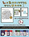 Fichas imprimibles para infantil (Laberintos - Volumen 2): 25 fichas imprimibles con laberintos a...