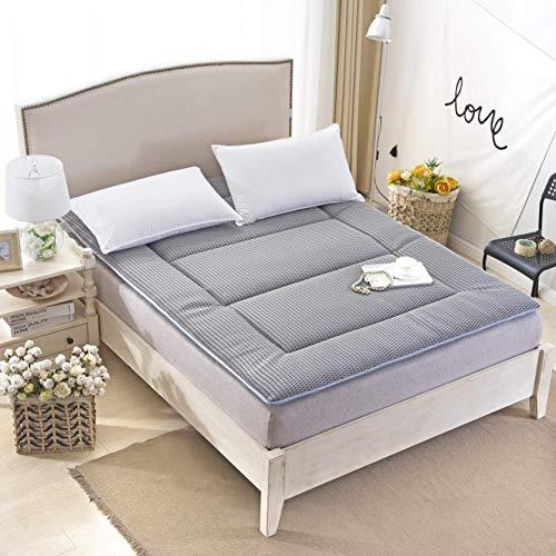 GONGFF mattress, tatami futon mattress, Foldable bed mattress topper Queen Double Soft Sleeping pad Non-slip mats Roll up Memory foam -D 150x200x5cm(59x79x2inch)