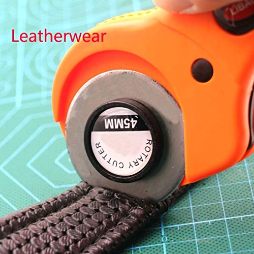 JPONLINE 45mm Rotary Cutter Set 5 pcs Blades for Fabric Paper Vinyl Circular Cut Cutting Disc Patchwork Leather Craft Sewing Tool NEW