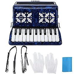 Accordéon Professionnel, Couleur Vive, 22 Touches, 8 Basses, Clavier de Piano, Instrument D\'accordéon pour la Performance sur Scène, Adultes, Enfants, Débutants, Cadeau