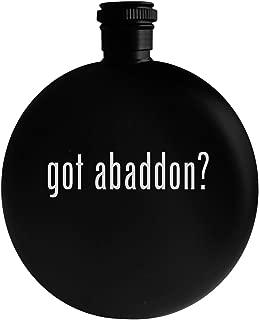 got abaddon? - 5oz Round Alcohol Drinking Flask, Black
