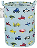 FANKANG Cesto de almacenamiento para la colada de lona plegable con revestimiento de polietileno impermeable grandes cestas de almacenamiento para la habitación de los niños, dormitorio, ropa (coche)
