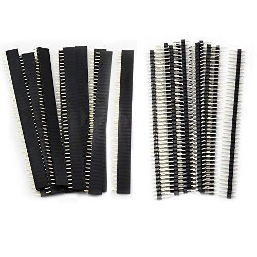 20 unidades de 2,54 mm placa PCB separada de 40 pines macho y hembra conector para Arduino Shield