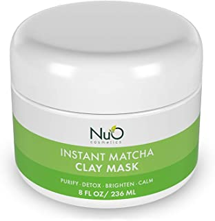 Sponsored Ad - NuOrganic Purifying Organic Matcha Clay Face Mask for Men and Women with Bentonite Mud, Green Tea, and Anti...