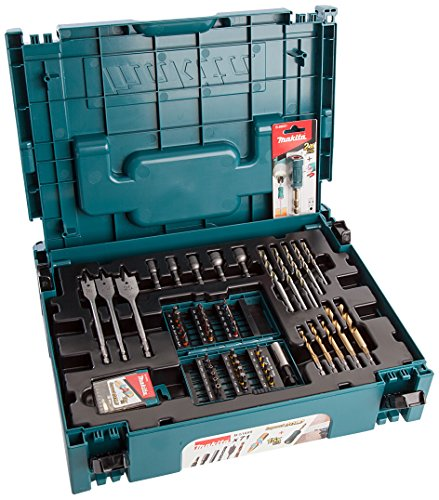 Makita b-51699 boor- en bitset, 18 V, blauw/zwart, 115 mm/4,1/2 inch, 71-delig