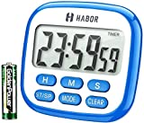 TopElek Digital Kitchen Timer, Larger LCD Display Countdown Timer 24 Hours Clock Timer