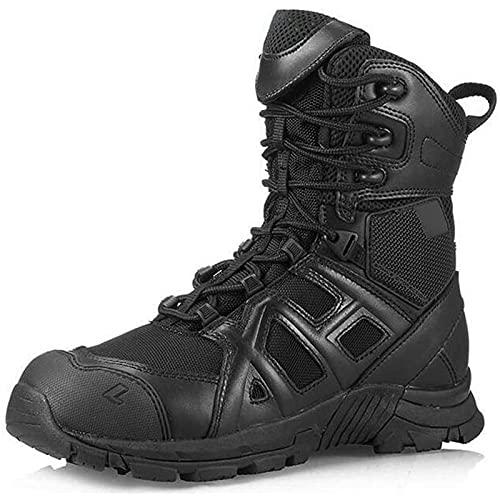 Botas Militares para Hombre Botas Altas Combate de MontañA En Desierto TáCticas Antideslizantes Transpirables Zapatos de Senderismo En Selva Impermeables Aire Libre