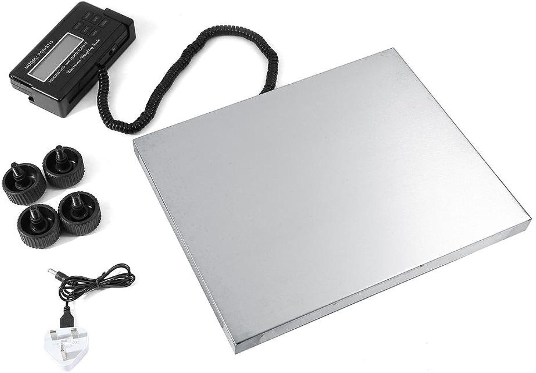 Digital Plattformwaage Paketwaage Edelstahl Plattform Waage mit Netzteil LCD-Anzeige, 300 kg Heavy Duty B07J5NY8PN | Räumungsverkauf