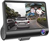 1080P 170°Wide Angle,4' Dual Lens HD Car DVR Rearview Video Dash Cam Recorder Camera LCD Screen G-Sensor, WDR, Parking Monitor, Loop Recording, Motion Detection