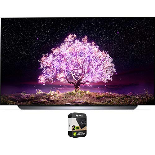 lg 65 inch oled tvs LG OLED65C1PUB 65 Inch 4K Smart OLED TV with AI ThinQ 2021 Model Bundle with Premium 2 Year Extended Protection Plan