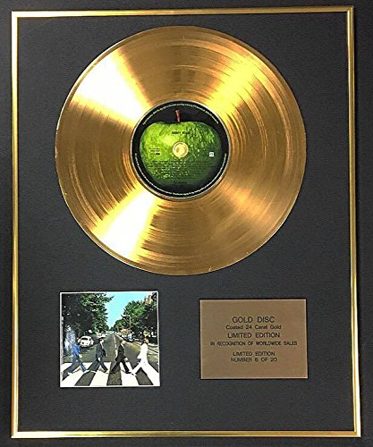 Century Music Awards The Beatles – Exklusive limitierte Auflage 24 Karat Goldscheibe – Abbey Road