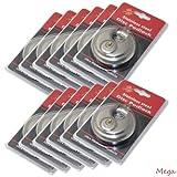 48 Pack Wholesale Lot DISC PADLOCK 80mm Steel Armor Storage Trailer Round lock- Stainless Steel Lock