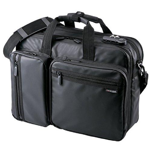 サンワダイレクト 3WAYビジネスバッグ 耐水素材 20L PCバッグ 200-BAG048WP