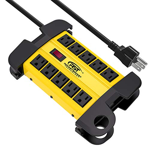 CRST 10-Outlets Heavy Duty Metal Surge Protector