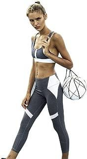 Litetao Patchwork Leggings, Women Sports Gym Yoga Ankle-Length Pants Athletic Trouser