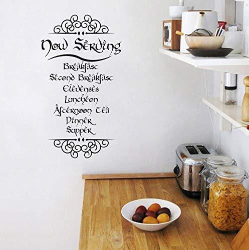 Comidas Inspiradas Cotizaciones Vinyl Wall Sticker Decals Kitchen Room Art Decals Mural Decoration 55X30Cm