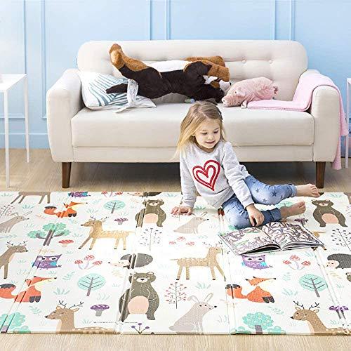 HB.YE - Alfombra de juego para bebé, plegable, impermeable, antideslizante, alfombra de suelo para niños (150 x 200 cm)