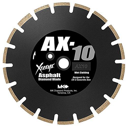 MK Diamond 159618 MK-AX-10 14-Inch Wet Cutting Segmented Saw Blade with 1-Inch Arbor for Asphalt