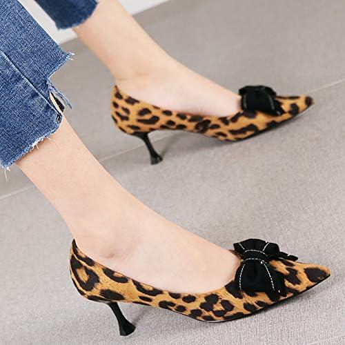 HRCxue zapatos de la Corte Sexy Tacones de Aguja de Arco de Temperamento de Tela Escocesa Moda zapatos Puntiagudos Solos Femeninos, 34, Cuadros