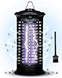 LIUPING Mosquito Killer Bug Zapper Lámpara Física con Luz UV Trampas para Moscas, Insecticida Electrónico Impermeable para Exteriores, Interiores, Patio, Jardín, con Gancho, Colgante