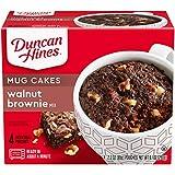 Duncan Hines Mug Cakes Walnut Brownie Mix, 4 - 2.2 OZ Pouches