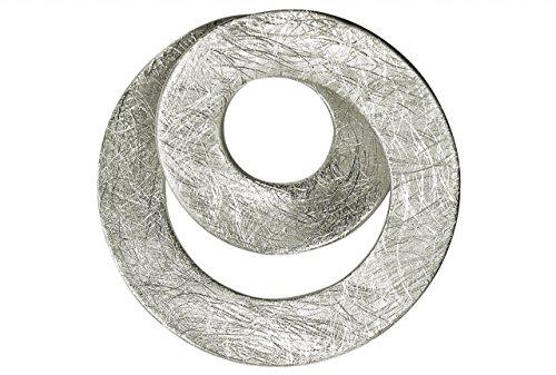 SILBERMOOS Anhänger Spirale Loop offen Kreis gebürstet Sterling Silber 925 / Kette optional