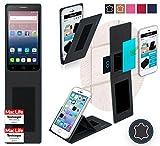 Hülle für Alcatel OneTouch Pop 3 (5.5) 4G Tasche Cover Hülle Bumper | Schwarz Leder | Testsieger