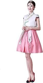 Women Korean Stylish Hanboks for Summer Short Dancing Dress Cosplay Costume