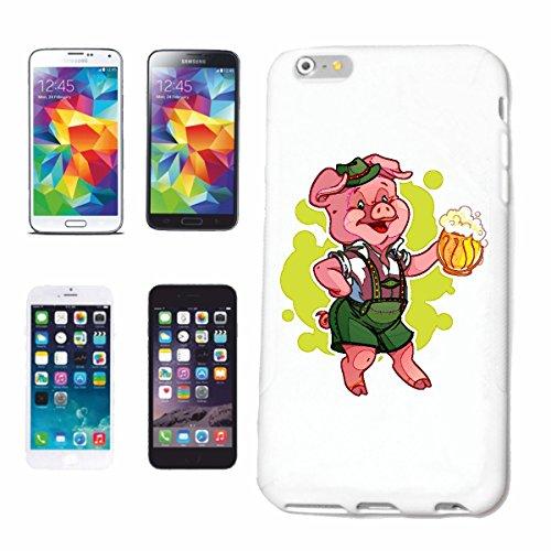 Reifen-Markt Handyhülle kompatibel für iPhone 6S Schwein MIT Bierkrug UND Lederhose AUF DEM Oktoberfest Wildschwein MINISCHWEIN SCHWEINERASSE Ferkel SAU Hardcase S
