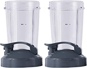 Nutribullet Replacement Parts, 24OZ Cup with Flip Top to Go Lid, Compatible with Nutribullet 600W 900W Blenders (2 Pack)