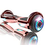 XPRIT Hoverboard w/Bluetooth Speaker, UL2272 Certified (Chrome Rosegold)