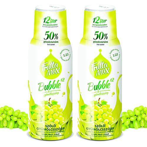 Frutta Max Getränkesirup Frucht Sirup Konzentrat | Trauben Geschmack | weniger Zucker | mit 50% Fruchtanteil | für Soda Maschine geeignet 2erPack(2x500ml)