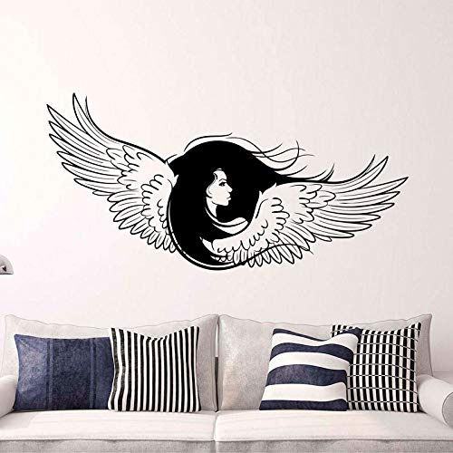 Memorial Guardian Inspiring Angel Wings Decal Newborn Woman Big Wings Vinyl Sticker Gothic Angel Decorating Wall Decor for Living Room A7 85 x 42 m