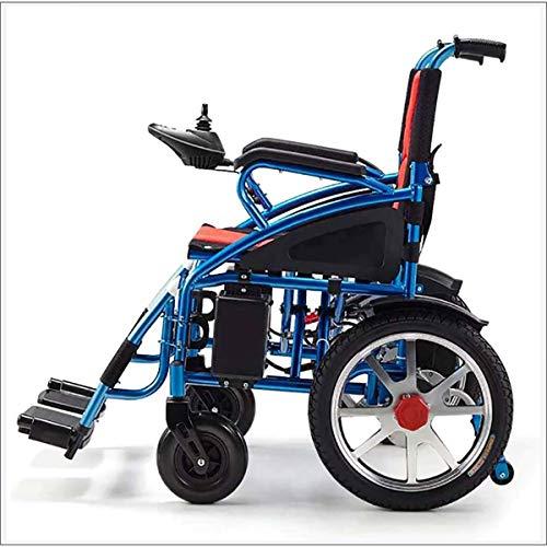 Elektro-Rollstuhl, Aluminiumlegierung-Faltbare Elektro-Rollstuhl, Linke und rechte Antriebsrad für Behinderte Senioren und Old Man