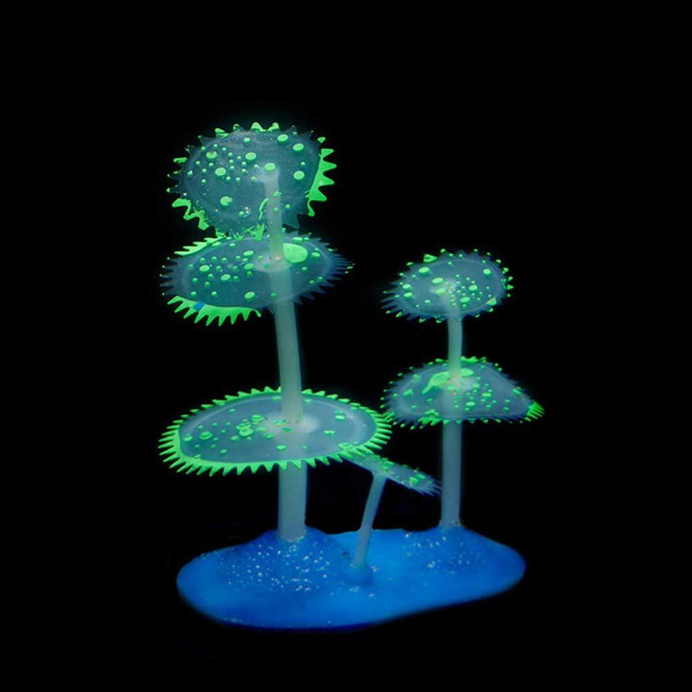 Danmu 1pc of Glowing Effect Aquarium Coral Omaha Mall Artificial Under blast sales Dec