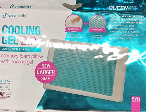 Comfort Revolution Memory Foam & Hydraluxe Cooling Bed Pillow - Queen Bed Pillow