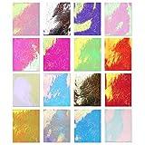 S-TROUBLE 16 Unids/Set Diseño de Llama Láser Pegatinas de Uñas Calcomanías de Lentejuelas de Uñas de Colores Mágicos Pegatina de Decoración Accesorios de Arte de Manicura para Mujeres Niñas